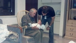My dad, husband, and brand new baby. <3