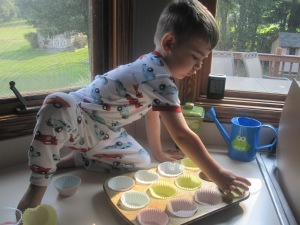There's no denying this kid cook is a muffin man!