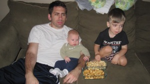Eat on the couch while watching football.