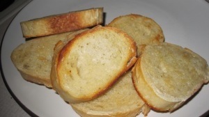 Make some quick garlic toast.