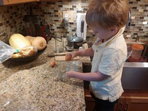 Uncle Joey has his very own kid cook, too!
