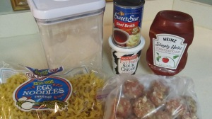 Meatball Stroganoff ingredients