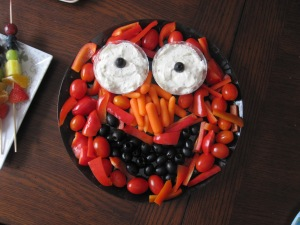 """My attempt at """"Elmo"""" for Ozzy's first b-day party."""