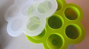This is great for freezing portions.  However, a regular old ice cube tray works, too.